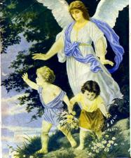 Angels help rapture children