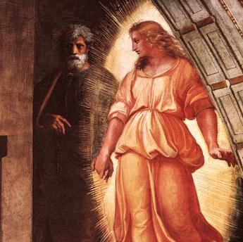 Peter was rescued from jail by an angel, in a similar way Christ will rapture us.