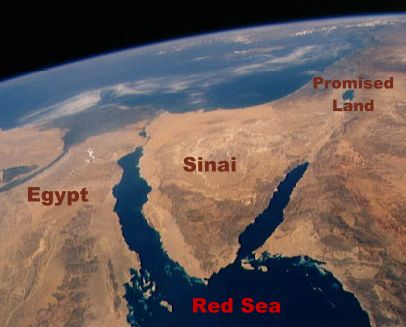 Israel crossed the red sea on their way to the promised land