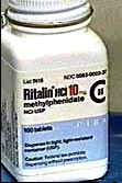Ritalin a brandname of methylphenidate.